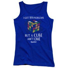 Rubiks Cube 99 Problems Juniors Tank Top Royal