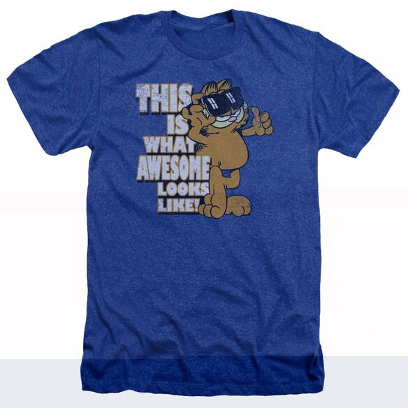 Garfield Awesome - Adult Heather - Royal Blue