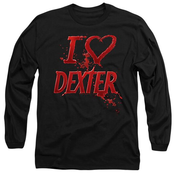 DEXTER I HEART DEXTER - L/S ADULT 18/1 - BLACK T-Shirt