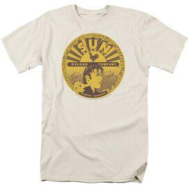 Sun Elvis Full Sun Label Short Sleeve Adult Cream T-Shirt