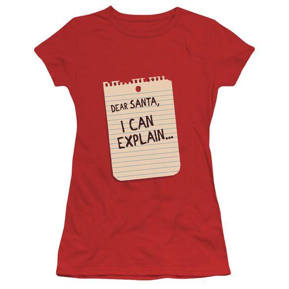 Note Short Sleeve Junior Sheer T-Shirt
