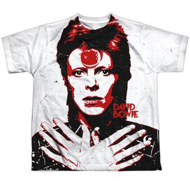David Bowie Piercing Gaze Short Sleeve Youth Poly Crew T-Shirt