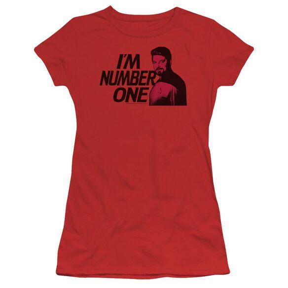Star Trek Im Number One Short Sleeve Junior Sheer T-Shirt