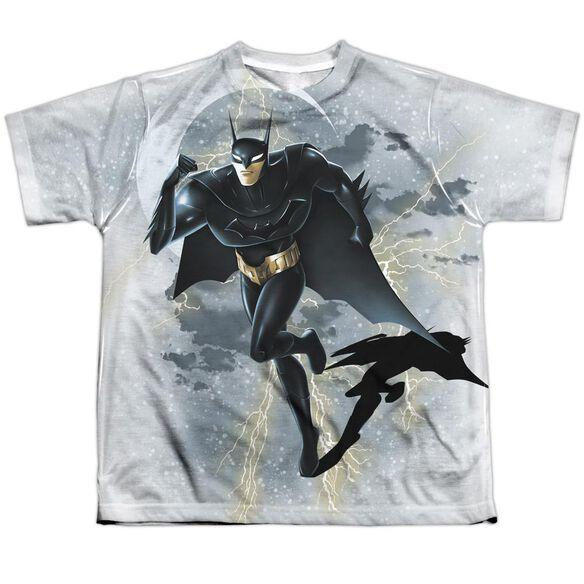 Beware The Batman Storm Sprint Short Sleeve Youth Poly Crew T-Shirt