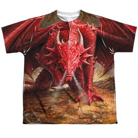 Anne Stokes Dragons Lair Short Sleeve Youth Poly Crew T-Shirt