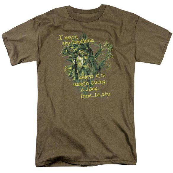 Lor Slow Talker Short Sleeve Adult Safari Green T-Shirt
