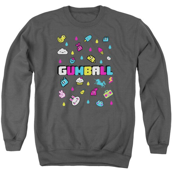 Amazing World Of Gumball Fun Drops Adult Crewneck Sweatshirt