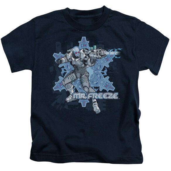 Batman Mr Freeze Short Sleeve Juvenile Navy T-Shirt