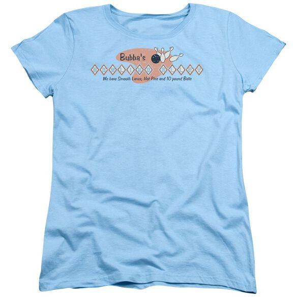 Bubbas Bowling Alley Short Sleeve Womens Tee Light T-Shirt