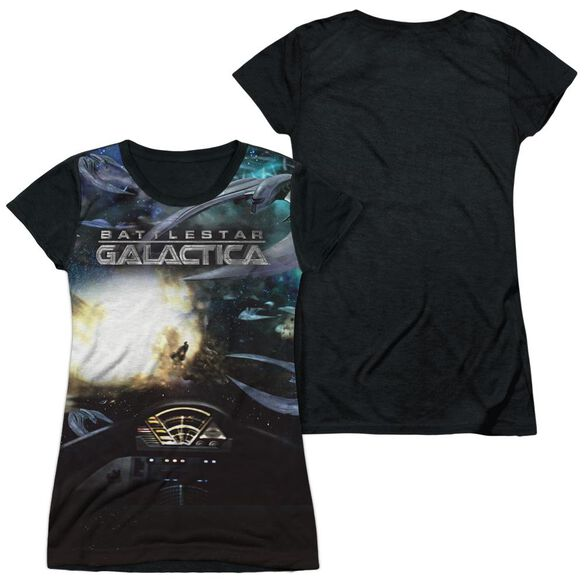Bsg (New) Battle Seat Short Sleeve Junior Poly Black Back T-Shirt