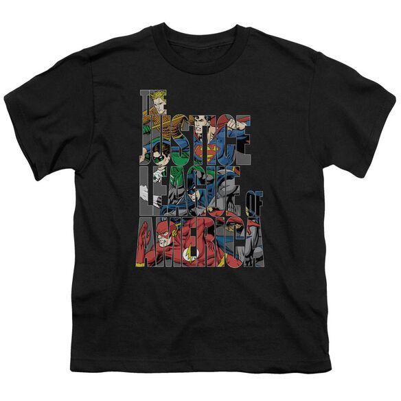 Jla Lettered League Short Sleeve Youth T-Shirt
