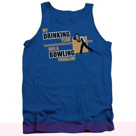 My Drinking Team - Adult Tank - Royal Blue