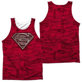 Superman Super Powers Adult 100% Poly Tank Top