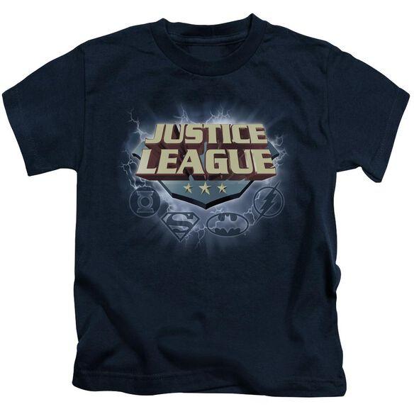 Jla Storm Logo Short Sleeve Juvenile Navy T-Shirt