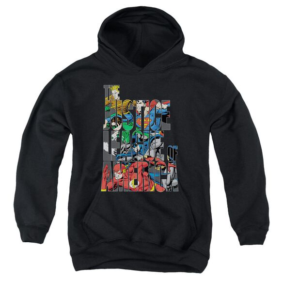 Jla Lettered League Youth Pull Over Hoodie