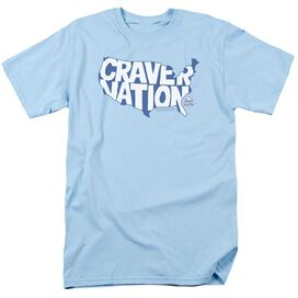 White Castle Craver Nation Short Sleeve Adult Light Blue T-Shirt