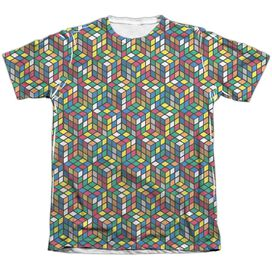 Rubiks Cube Cube Stack Adult Poly Cotton Short Sleeve Tee T-Shirt