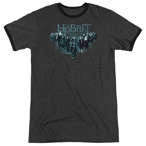The Hobbit Thorin And Company Adult Heather Ringer Charcoal