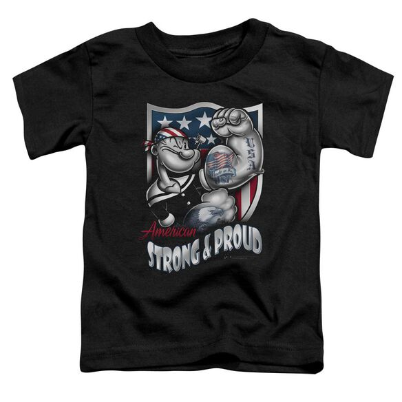POPEYE STRONG & PROUD - S/S TODDLER TEE - BLACK - T-Shirt