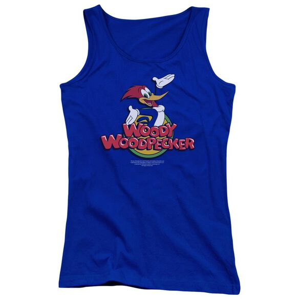 Woody Woodpecker Woody Juniors Tank Top Royal