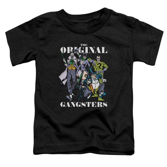 Dc Original Gangsters Short Sleeve Toddler Tee Black T-Shirt
