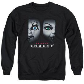 Bride Of Chucky Happy Couple - Adult Crewneck Sweatshirt - Black