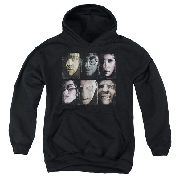 Harry Potter Horizontal Heads Youth Pull Over Hoodie