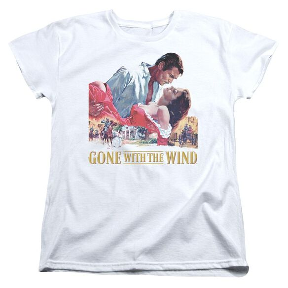 Gone With The Wind On Fire Short Sleeve Womens Tee T-Shirt