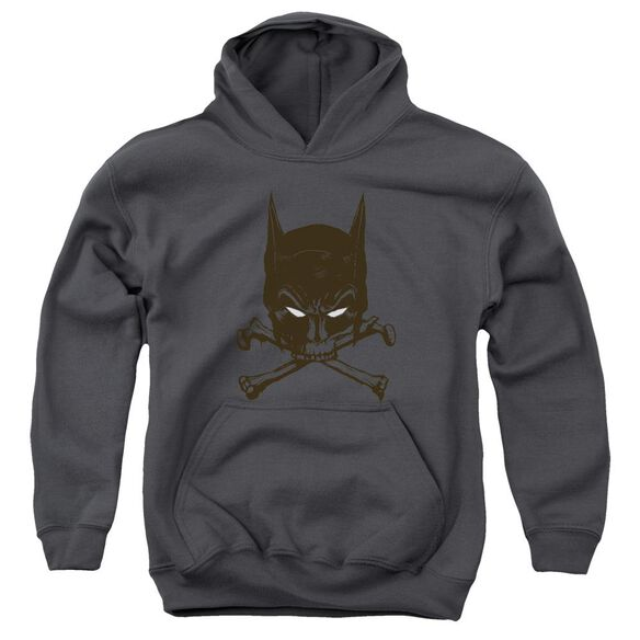Batman Bat And Bones Youth Pull Over Hoodie