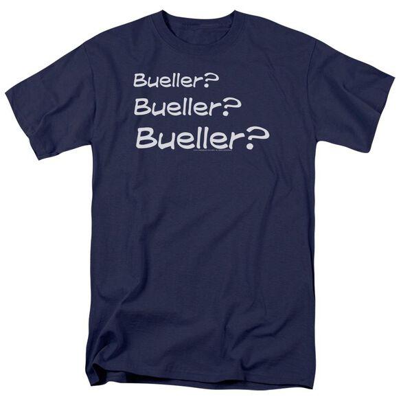 Ferris Bueller Bueller? Short Sleeve Adult Navy T-Shirt