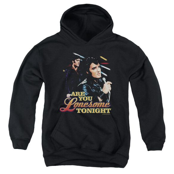 Elvis Are You Lonesome Youth Pull Over Hoodie
