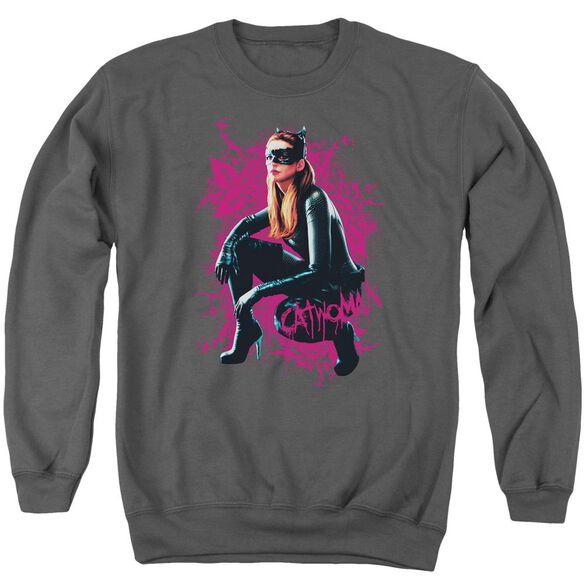 Dark Knight Rises Catwoman Roses Adult Crewneck Sweatshirt