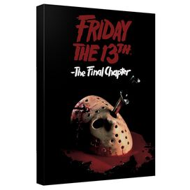 Friday The 13 Th Final Chapter Poster Canvas Wall Art With Back Board