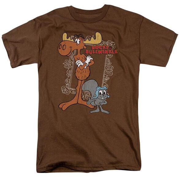 Rocky & Bullwinkle Best Chums Short Sleeve Adult T-Shirt