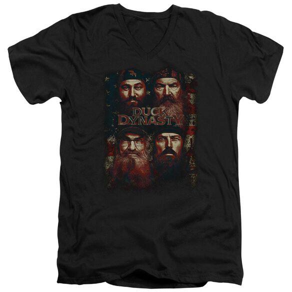 Duck Dynasty American Dynasty Short Sleeve Adult V Neck T-Shirt