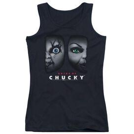 Bride Of Chucky Happy Couple - Juniors Tank Top - Black - Xl