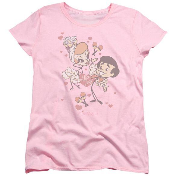 I Love Lucy Rumba Dance Short Sleeve Womens Tee T-Shirt