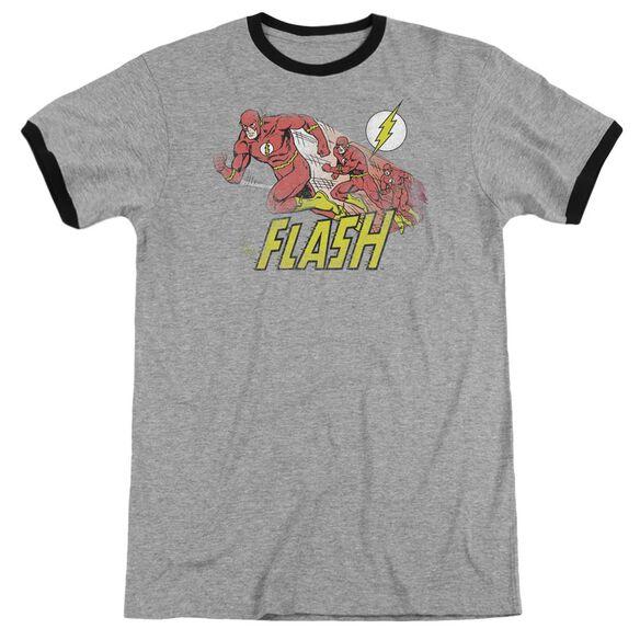 Dc Flash Crimson Comet Adult Ringer Heather