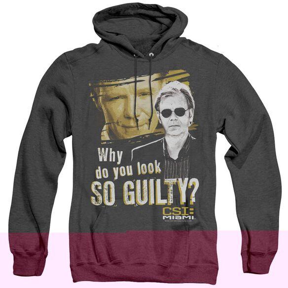 Csi Miami So Guilty - Adult Heather Hoodie - Black