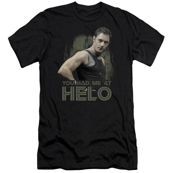 Bsg Had Me At Helo Short Sleeve Adult T-Shirt