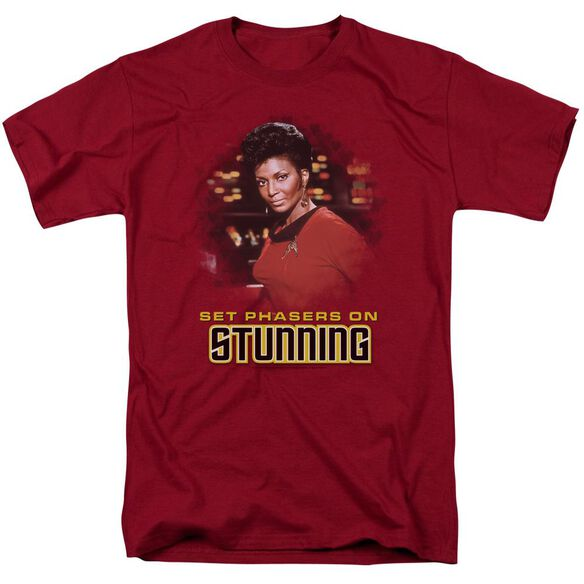 Star Trek Stunning Short Sleeve Adult Cardinal T-Shirt