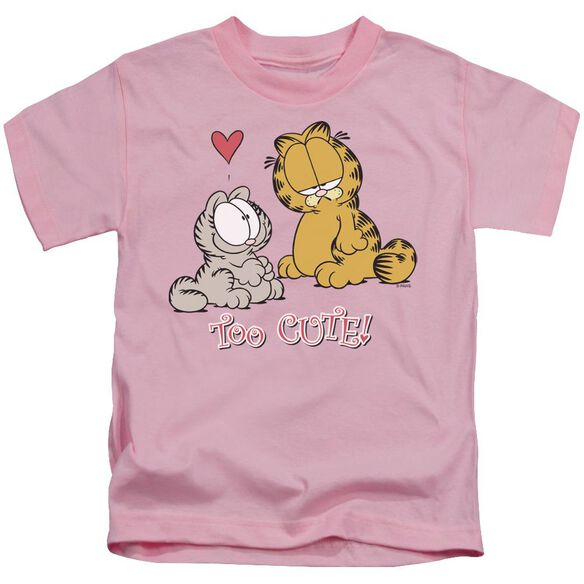 Garfield Too Cute Short Sleeve Juvenile Pink T-Shirt
