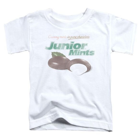 Tootsie Roll Junior Mints Logo Short Sleeve Toddler Tee White Sm T-Shirt