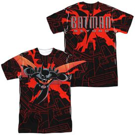 Batman Beyond Drop Down (Front Back Print) Short Sleeve Adult Poly Crew T-Shirt