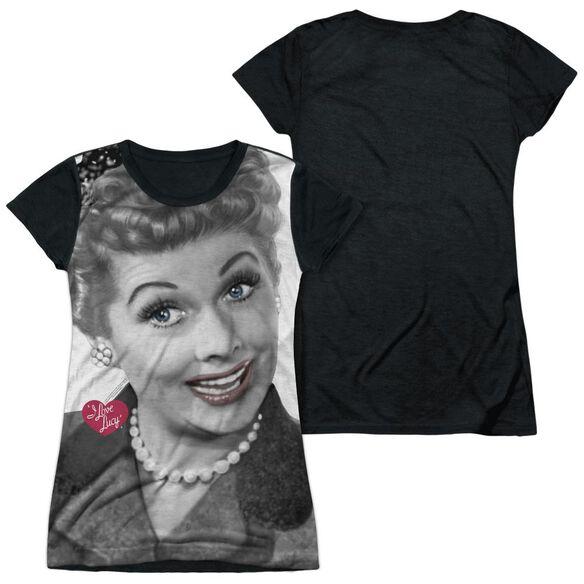 I Love Lucy Timeless Short Sleeve Junior Poly Black Back T-Shirt