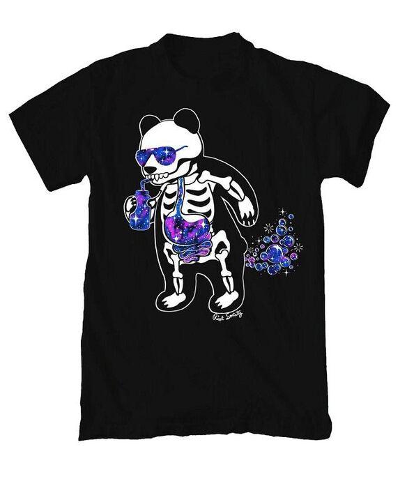 Riot Society Panda Skeleton T-Shirt