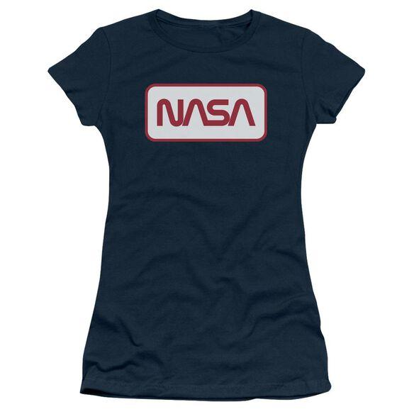 Nasa Rectangular Logo Short Sleeve Junior Sheer T-Shirt