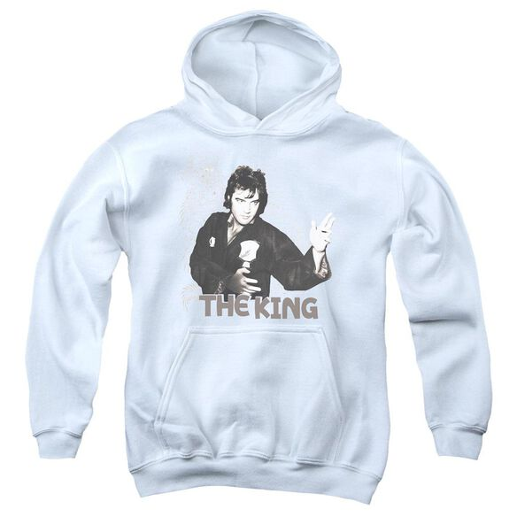Elvis Fighting King Youth Pull Over Hoodie