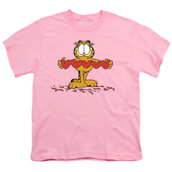 GARFIELD SWEETHEART - S/S YOUTH 18/1 - PINK T-Shirt