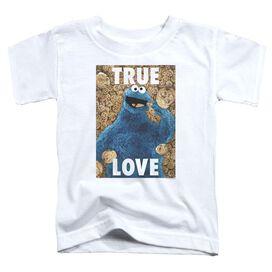 Sesame Street Beautiful Cookies Short Sleeve Toddler Tee White T-Shirt
